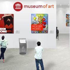 In der Eingangshalle werden weltweit ausgewählte Künstler mit Ihren Ausstellungen in einer echten Museumsumgebung gezeigt.