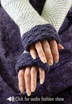 Free crochet pattern - memphis fingerless gloves