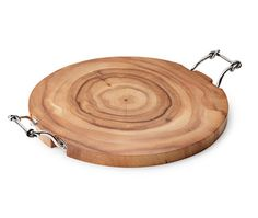 Challah Board Acacia Wood with Knot Handles by Mary Jurek