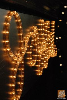 DIY Rope Light Holiday Message                                                                                                                                                                                 More