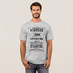 PREMIUM VINTAGE 2000 T-Shirt - birthday gifts party celebration custom gift ideas diy