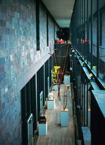 Beyeler Foundation - Renzo Piano BW - interior of west gallery.