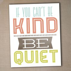 """""""Be Kind"""" Printable 8x10 Children's  Art Print by westwillow on Etsy, - $8"""