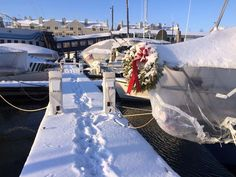 """The Top 5 """"Wintering Aboard in Maine"""" Questions We Get Asked (Portland, Maine) Portland Maine, Brio, Sail Away, Sailing, Table Decorations, Winter, Tops, Candle, Winter Time"""