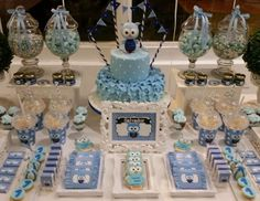 Holy cow yeah maybe if we were rich and could afford a party planner. Boy's Owl Themed First Birthday Party Idea