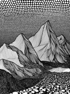 Closer, pen on paper - Lorene Kiraly Theme Tattoo, Arte Sharpie, Stylo Art, Organic Lines, Pen Art, Doodle Art, Painting & Drawing, Drawing Drawing, Art Inspo