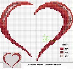 heart - free cross stitch pattern