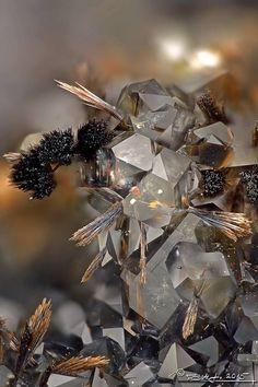 goethite and smoky quartz, hungary