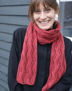 Lovely Lace Ribbon Scarf Pattern  free from Classic Elite Yarns site.