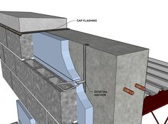 Cavity Wall Concrete Block VeneerReinforced Concrete