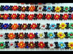 Beaded Bracelet Patterns, Jewelry Patterns, Beading Patterns, Beaded Bracelets, Beard Jewelry, Bracelet Crafts, Beading Tutorials, Bead Art, Handcrafted Jewelry