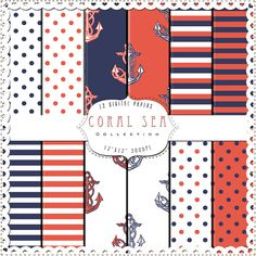 navy & coral - many ideas for rooms!!