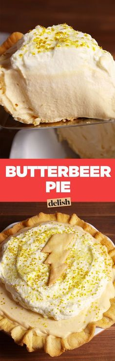Butterbeer pie is one delicious dessert that you must try! Pie Recipes, Sweet Recipes, Baking Recipes, Dessert Recipes, Chicken Recipes, Recipies, Dishes Recipes, Recipe Sites, Recipes Dinner