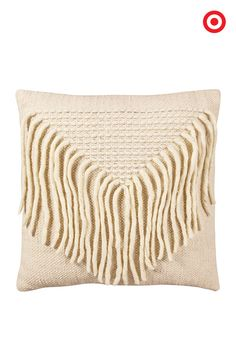 A little texture goes a long way with this Woven Fringe Pillow from the new @NateBerkus Collection.