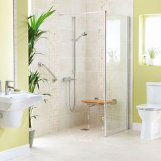 Wet Room Design Ideas If you are thinking about ways to spruce up your interior then you should look into wet rooms. What is a wet room you ask? Simple: its a new approach to bathroom design in which there is no tub shower screen or tray. Accessible Bathroom Design, Disabled Wet Room, Simple Bathroom, Shower Screen, Accessible Bathroom, Accessible Shower, Bathrooms Remodel, Bathroom Design, Shower Design