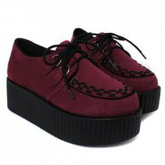 $20.06 Stylish Women's Platform Shoes With Lace-Up and Weaving Design