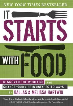 It Starts with Food: Discover the Whole30 and Change Your Life in Unexpected Ways, Dallas and Melissa Hartwig. Highly recommended for anyone contemplating a #Whole30. Biggest takeaway: you can DO this. Biggest downer: the words about wine.