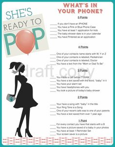 Ready to Pop baby shower game!