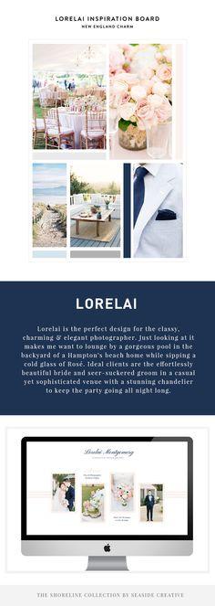 Lorelai - Shoreline Collection design by Seaside Creative. Showit Website + ProPhoto Blog for creatives.