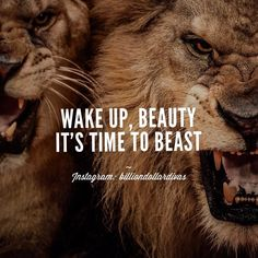 Motivation to start the day off right! Motivacional Quotes, Lion Quotes, Great Quotes, Quotes To Live By, Inspirational Quotes, Man Up Quotes, Edgy Quotes, Start Quotes, Attitude Quotes