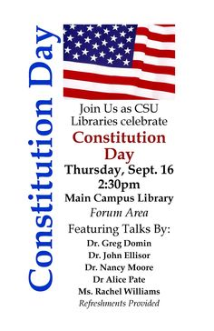 Constitution Day Celebration's for America