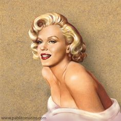 Marilyn Monroe by Pablito Matito (Paolo),  || This image first pinned to Marilyn…