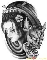hình xăm geisha 31