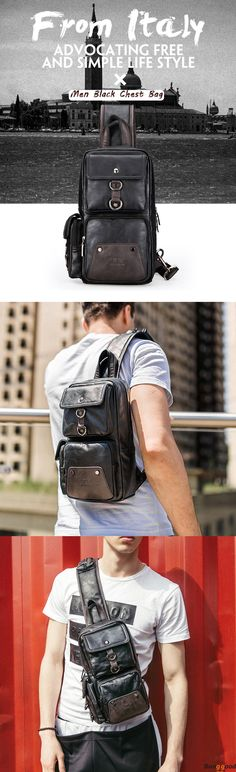 US$30.99 ~ 32.99 + Free shipping. Men Chest Bag, Leather Chest Bag, Shoulder Bag, Crossbody Bag. Multi-pocket Design with Large Capacity. Pu Leather & Canvas, 2 Version to Choose. Check it Out!