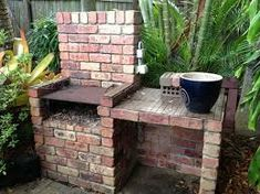 Image result for brick barbecue