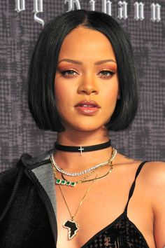 Where: Fenty x Puma by Rihanna launch, 2016  The style: The singer unveiled a short, sleek bob at the launch of her collection with Puma.