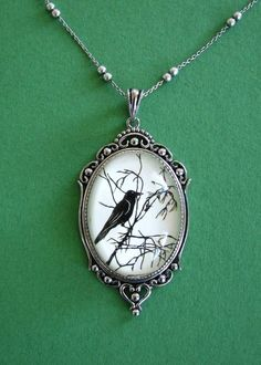 For The Love Of Crows Necklace, pendant on chain. $50.00, via Etsy.