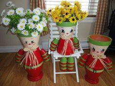 Vasetti porta fiori ometti