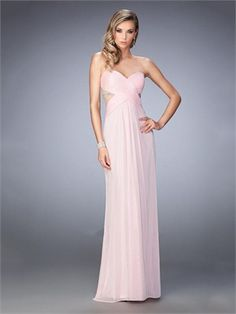 Gorgeous Sweetheart Neckline and Side Cutouts Beaded Chiffon Prom Dress PD12219
