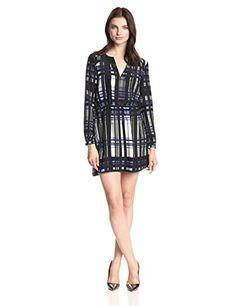 Parker Women's Rava Silk Plaid Print Shirt Dress, Nightfall, Medium Parker http://smile.amazon.com/dp/B00LW2L5WM/ref=cm_sw_r_pi_dp_AC-Zub1JHA957
