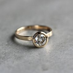 Moissanite Engagement Ring Conflict Free Alternative by TheSlyFox, $995.00