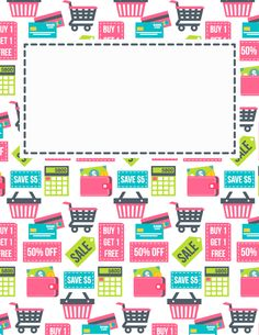 Free printable coupon binder cover template. Download the cover in JPG or PDF format at http://bindercovers.net/download/coupon-binder-cover/