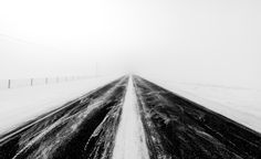 Winter Road by Sandra Herber Winter Road, My Images, Railroad Tracks, Beautiful Places, Country Roads, Wallpaper, Travel, Photos, Viajes
