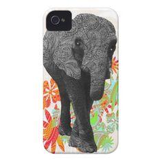 Cute Hippy Elephant iPhone 4 Case