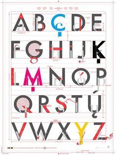 Un bellissimo alfabeto illustrato sulle meraviglie della tipografia, tra cui terminazioni, ascendenti, discendenti, legature e tanto altro!  Non tutti sanno che la tipografia è un'arte!