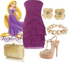 """Rapunzel Disney Princess Prom Outfit"" by natihasi on Polyvore"