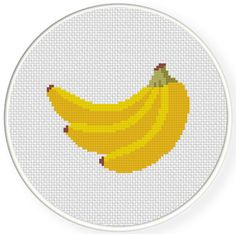 Charts Club Members Only: Banana Cross Stitch Pattern