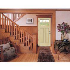JELD-WEN 36 in. x 80 in. Craftsman 6-Lite Unfinished Hemlock Prehung Front Door with Unfinished AuraLast Jamb and Brickmould