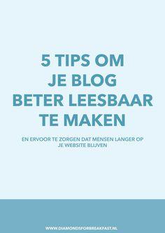 Als je meer bezoekers op je site wilt of wilt dat ze langer blijven hangen, is het belangrijk dat je blog goed leesbaar is. Lees hier hoe je dat doet: