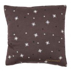 Stars cushion - dark grey