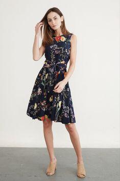 798880a6e287 Anouk Sleeveless Dress (Navy Garden) – Occasion – Amour Vert Sustainable  Clothing