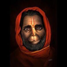 Hanuman Jayanthi, Hanuman Tattoo, Hanuman Pics, Hanuman Images, Shiva Hindu, Shiva Art, Hindu Deities, Krishna Art, Ganesh Bhagwan