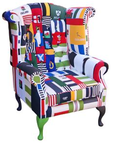 Made this rugby shirt chair for the lovely bunch @skysportsrugby