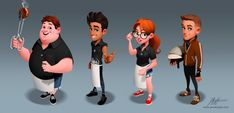 World Chef Characters by javieralcalde on DeviantArt Game Character Design, Character Creation, Character Design References, 3d Character, Cartoon Games, Cartoon Characters, World Chef, Cg Artist, Illustrations And Posters