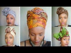 Head Wrap Tutorial | 5 Different Ankara Styles - YouTube