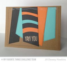 Stitched Fishtail Banner STAX Die-namics, Ride the Wave Die-namics, Inside & Diagonal Stitched STAX Die-namics, Photo Booth - Jill Dewey Hawkins #mftstamps